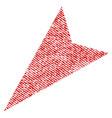 arrowhead left-down fabric textured icon vector image vector image