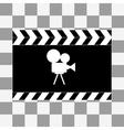 art Film clapper board icon vector image vector image