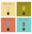 assembly flat plant hyacinthus vector image vector image