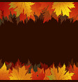 autumn maple leaves on brown background vector image vector image