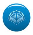 big shell icon blue vector image vector image