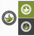 bird hand logo images vector image
