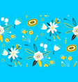 blossom floral pattern in blooming botanical vector image