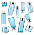 blue cosmetic packaging vector image vector image