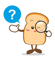 Bread 14 Isolated happy smile searching something vector image vector image