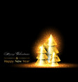 christmas and happy new year background xmas pine vector image vector image