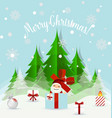Christmas Greeting Card with Christmas tree and vector image vector image