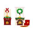 christmas holiday home scene vector image vector image