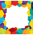 Colorful Border from Cubes vector image vector image