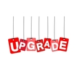 colorful hanging cardboard Tags - upgrade vector image