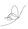 continuous line drawing simple butterfly vector image
