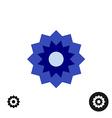 Cornflower simple geometric logo vector image vector image