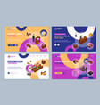 court session concept landing web page template vector image vector image