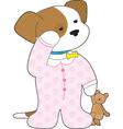 cute puppy pajamas vector image vector image