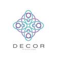 decor original logo creative badge for company vector image vector image