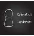 Deodorant painted with chalk on blackboard vector image vector image