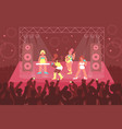female band concert composition vector image vector image