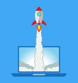 flat style rocket vector image