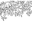 flower background monochrome vector image vector image
