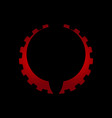 gear icon colored icon gear icon for design vector image vector image