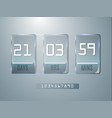 glass counter timer banner start end dates for vector image