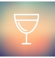 Glass of wine thin line icon vector image vector image