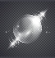 glass sphere of glowing lights effects vector image vector image