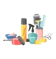 Hairdresser barber icons vector image vector image
