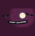 halloween night background picture with flying vector image vector image