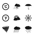 hydrometcentre icons set simple style vector image vector image