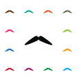 isolated barber icon moustache element can vector image vector image