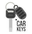 keys car icon of auto key keychain lock vector image vector image