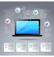 Laptop infographic template vector image vector image