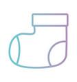 line baby sock fashion design textile vector image