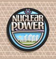 logo for nuclear power vector image