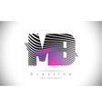 md m d zebra texture letter logo design with vector image vector image