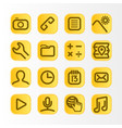 mobile phone user interface icon set vector image vector image