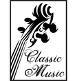 monochrome pattern with violin vector image vector image