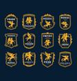 pegasus icons heraldic winged horses symbols vector image