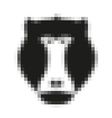 Pixel head of baboon monkey in vector image vector image