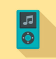 portable music player icon flat style vector image vector image