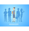 portrait of a woman manager keeps a folder w vector image vector image