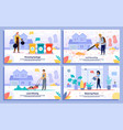 professional housekeeping service banners vector image vector image