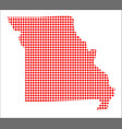 red dot map of missouri vector image vector image
