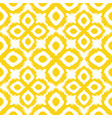 seamless ikat pattern in yellow and grey colors vector image vector image