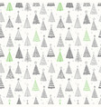 seamless pattern with doodle christmas trees can vector image vector image