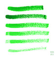 set of green watercolor horizontal lines vector image vector image