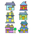 set of house style colorful collection vector image vector image