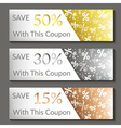 Set of three sale banners EPS10 vector image