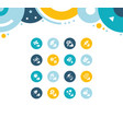set simple icons seeds vector image